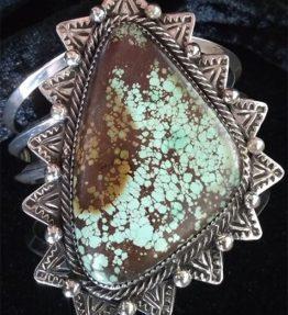 Large Single Stone Royston Turquoise Bracelet