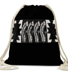 """Male Dancers"" Navajo Art on Drawstring Backpack"