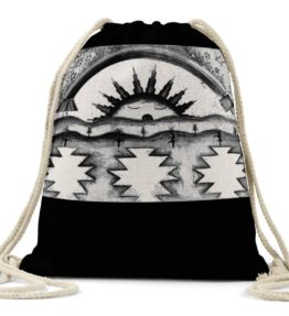 """Morning Blessings"" Navajo Art on Drawstring Backpack"