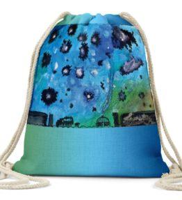 """Navajo Milky Way"" Navajo Art on Drawstring Backpack"