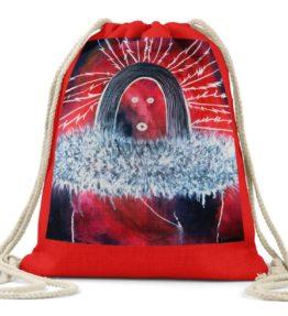"""Nine Day Ceremony"" Navajo Art on Drawstring Backpack"
